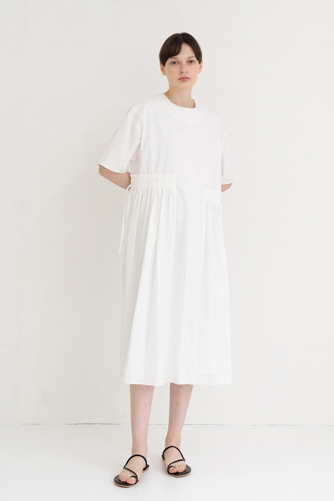 Side String Long Dress White