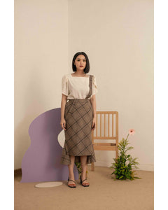 Jacquelle Pinafore Skirt Brown