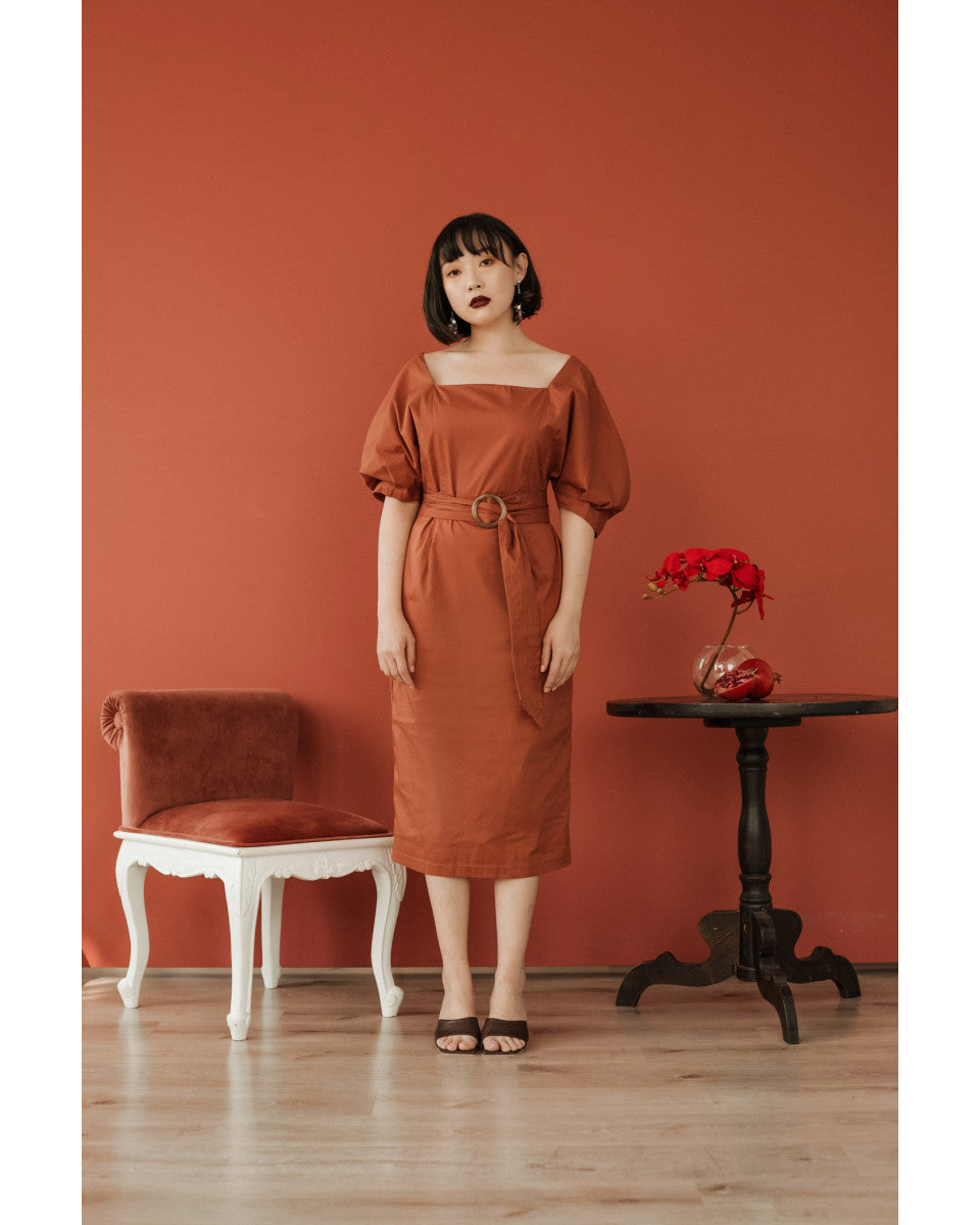 Kinsey Dress in Dusty Cedar