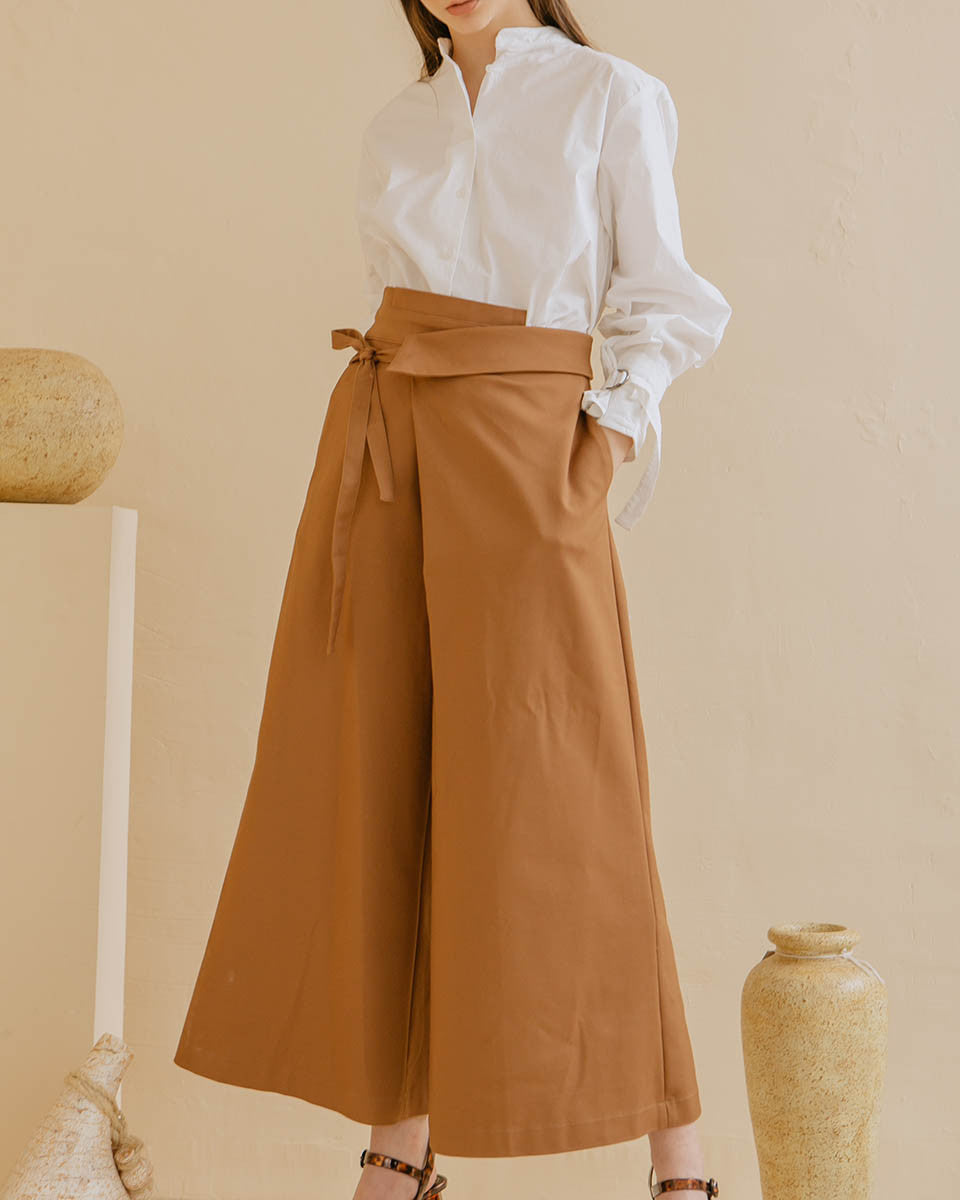 Rio Wide Leg Pants In Toffee