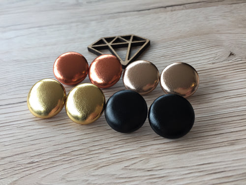 Textured Leatherette Studs