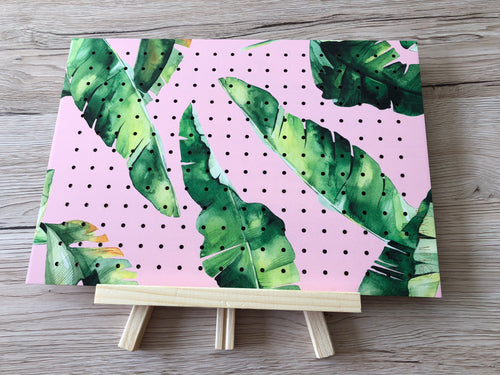 Banana Leaf Large Standing Earring Holder - by Bon Maxie