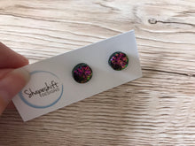 Rainbow Glitter Flake Clay Studs- By Shapeshift Designs
