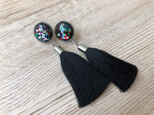 Night Party Glass Tassel Earrings