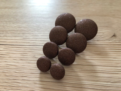 Chocolate Sparkle Fabric Studs