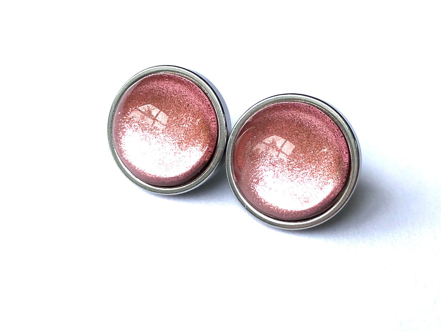 Rosè Foil Glass Studs