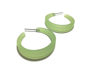 Lola Hoops - Frosted Lime Green by Leetie Lovendale