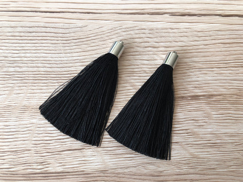 Black Butterfly Tassels