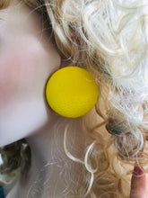 Yellow Leatherette Giga Studs