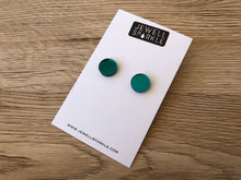 Teal Mirror Acrylic Circle Studs