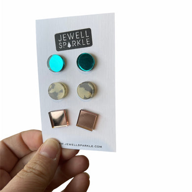 Acrylic Stud Trio Packs
