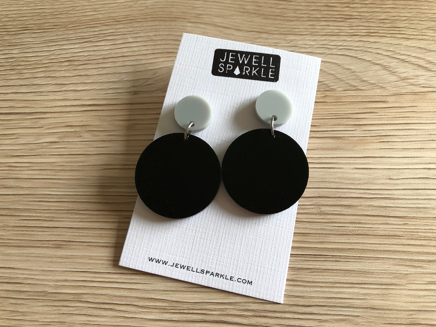 Grey and Black Colour Pop Dangles