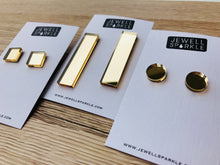 Gold Mirror Slim Dangles