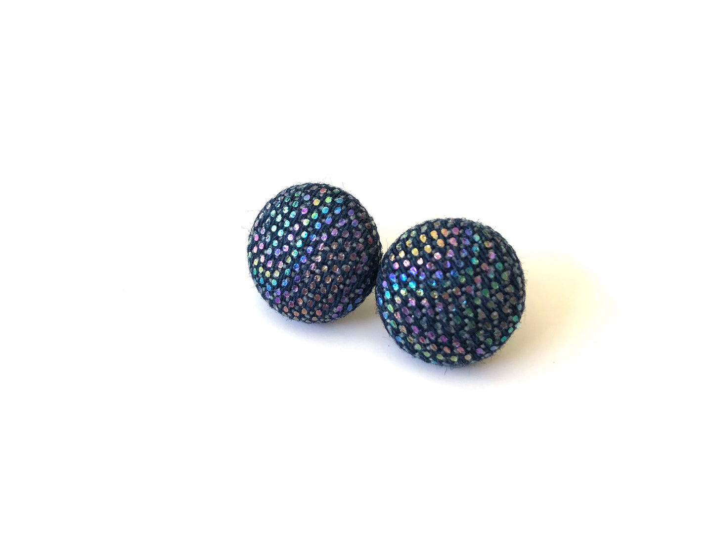 Dark Denim Slick Fabric Studs