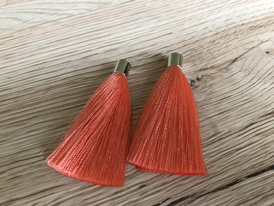 Coral Butterfly Tassels