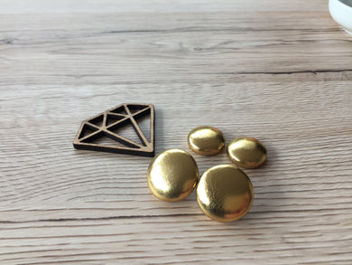 Gold Textured Leatherette Studs