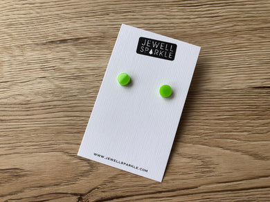 Lime Green 8mm Mini Studs