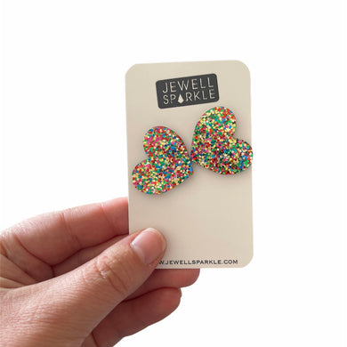 Limited Edition! Fairy Bread Acrylic Large Hearts