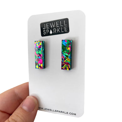 Graffiti Acrylic Mini Slim Dangles