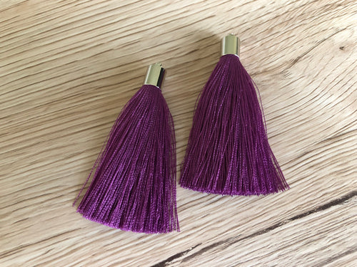 Grape Purple Butterfly Tassels