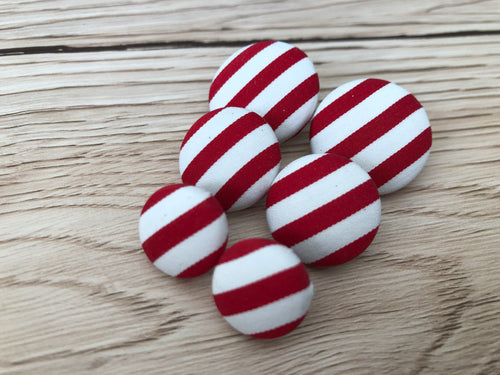 Candy Stripe Fabric Studs
