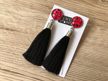 ON SALE SAVE $10 Various Colours Animal Print Painted Glass Tassel Earrings