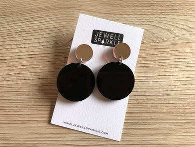 Rose Gold and Black Colour Pop Dangles