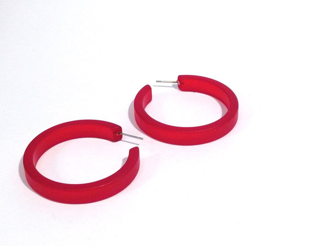 SALE! Save $5! Classic Hoops - Frosted Cherry Red by Leetie Lovendale