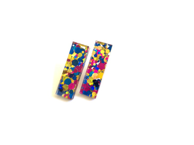 Disco Acrylic Mini Slim Dangles