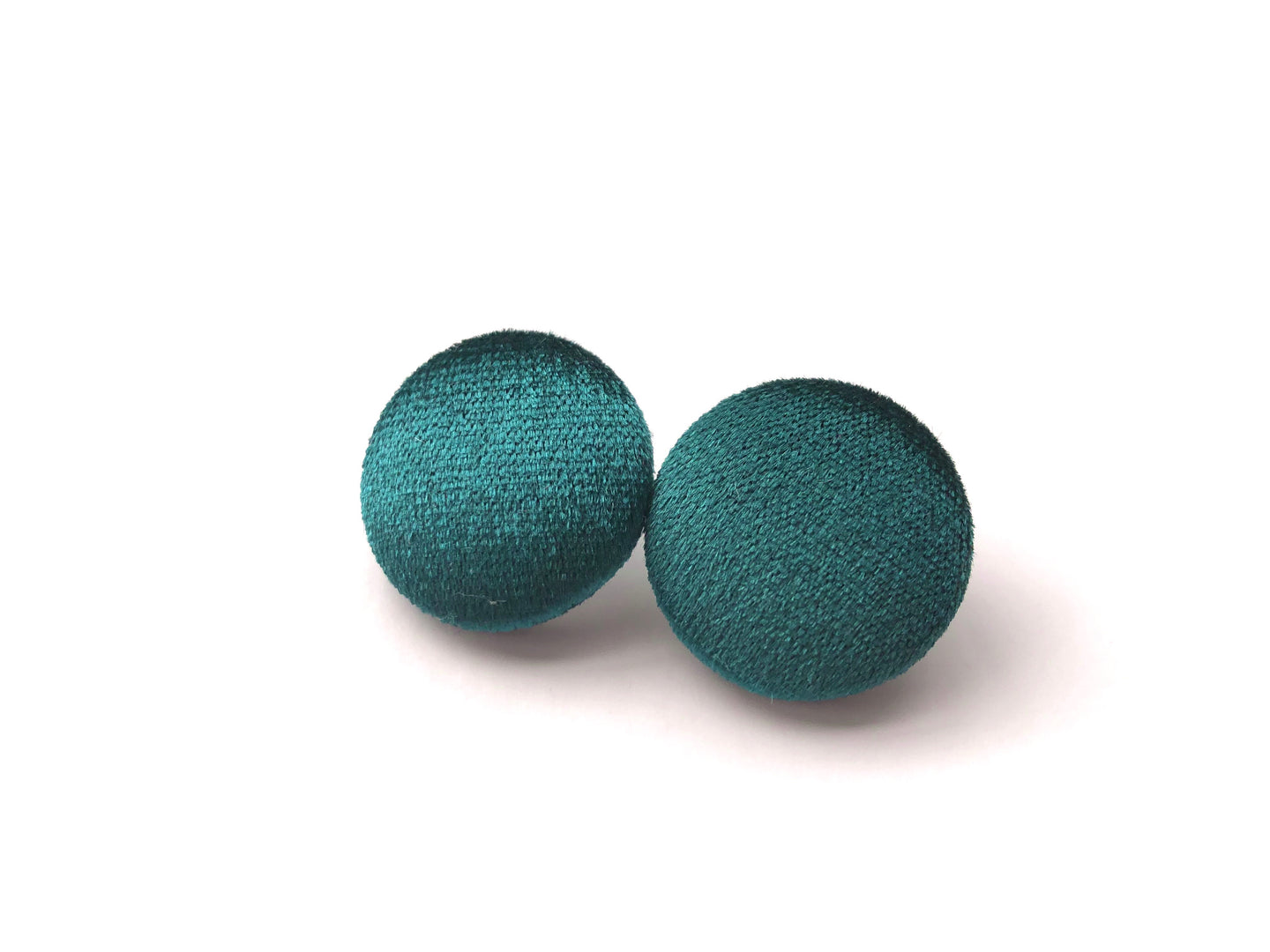 Deep Emerald Velvet Fabric Studs