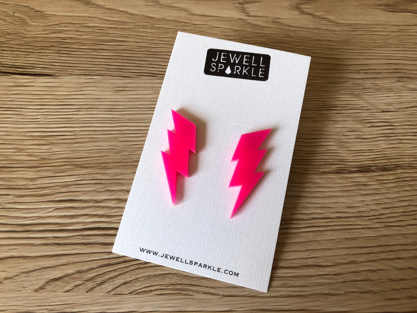 Hot Pink Lightning Acrylic Studs