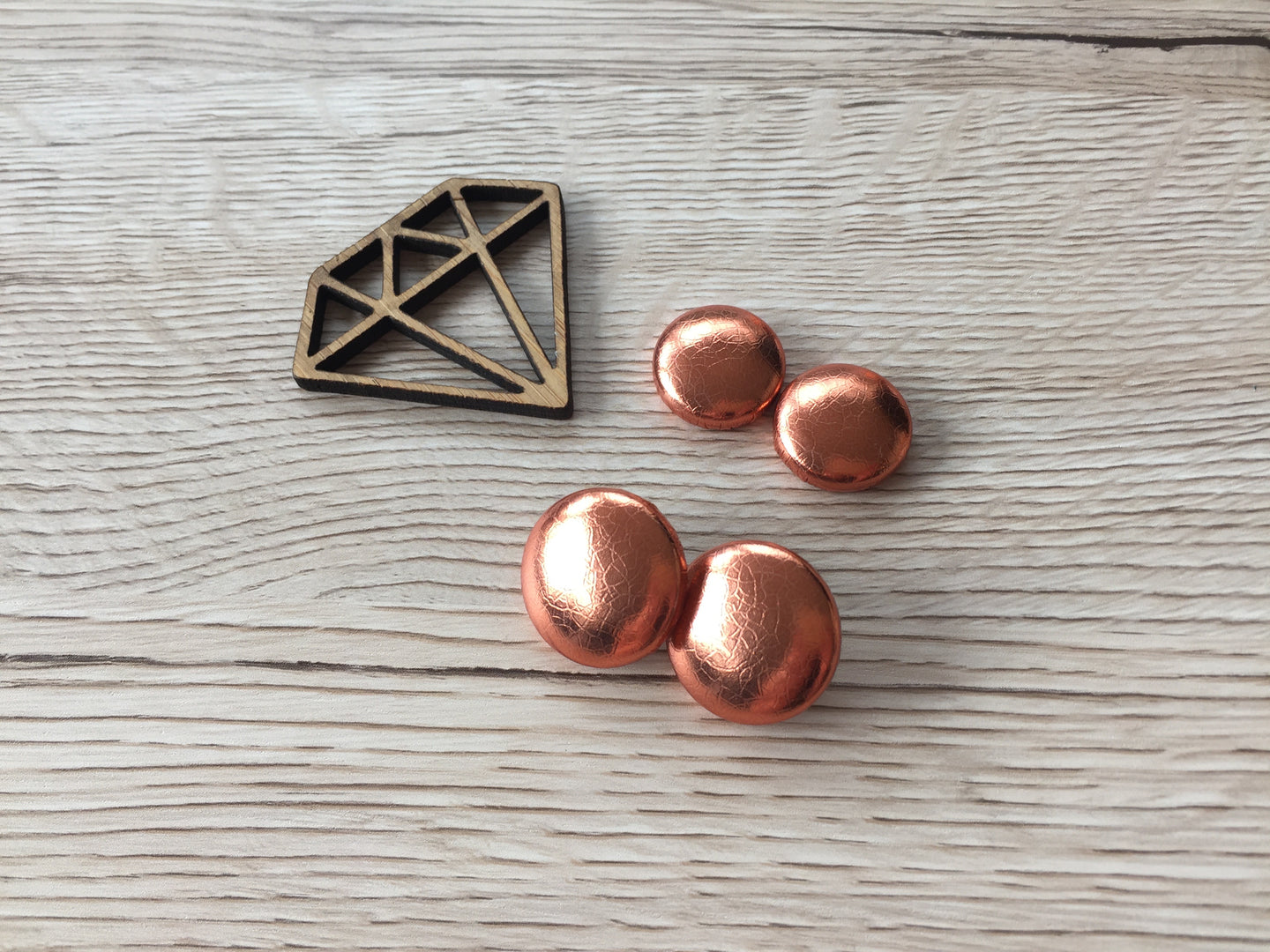 Copper Textured Leatherette Studs