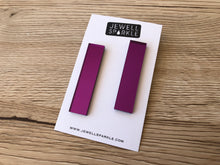 Purple Mirror Acrylic Slim Dangles