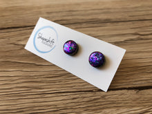 Purple Shift Glitter Flake Clay Studs - By Shapeshift Designs