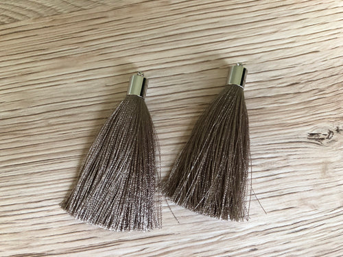 Taupe Butterfly Tassels