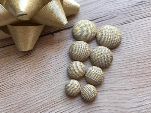 Champagne Tweed Studs