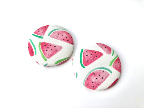 Fresh Watermelon Fabric Studs