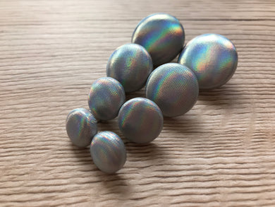Holographic Silver Fabric Studs