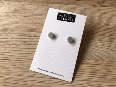 Soft Grey Acrylic 8mm Studs