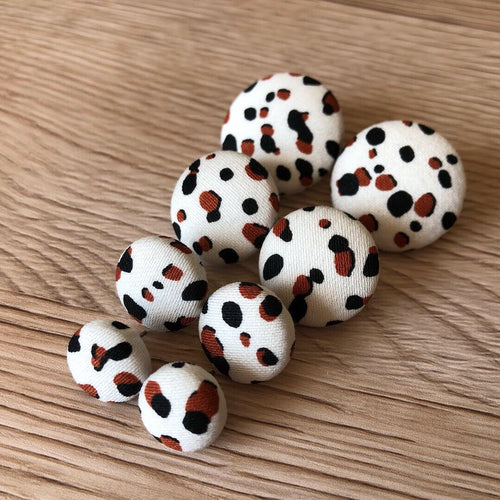 Copper Speckle Fabric Studs