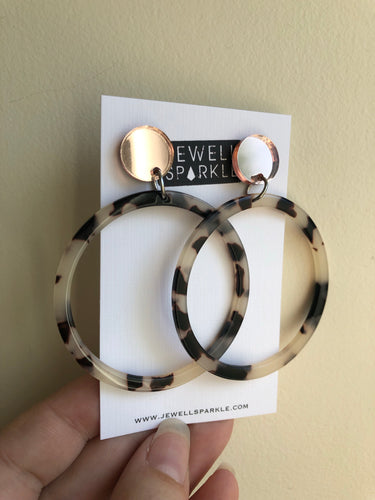 Rose Gold Blonde Torti Hoops