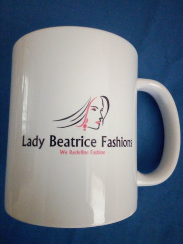 Mug with printed Lady Beatrice Fashions Logo