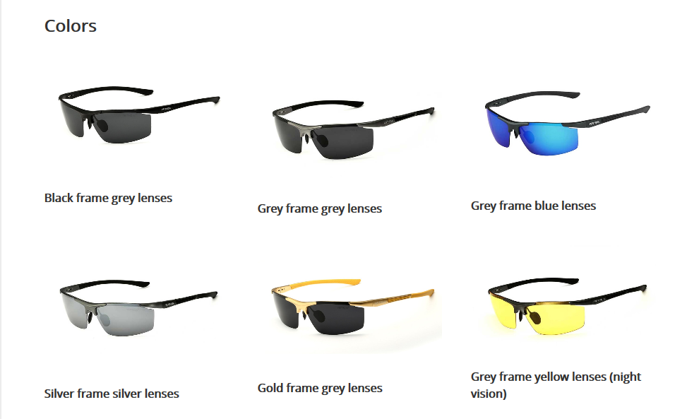Sunglasses Color