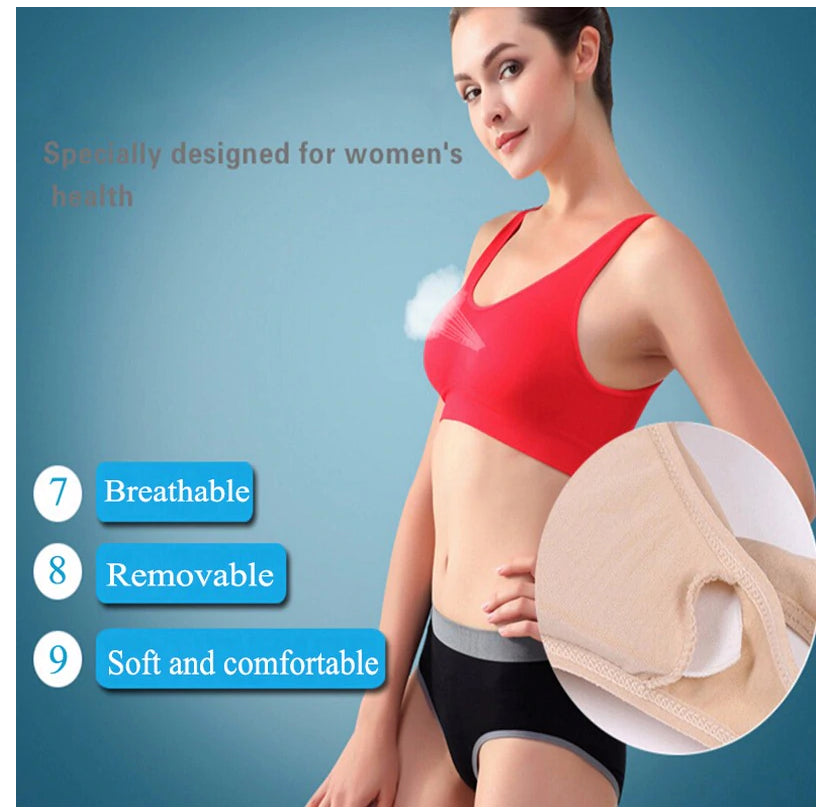 Fitness Yoga Running Vest Underwear Padded Crop Top Sports Bra