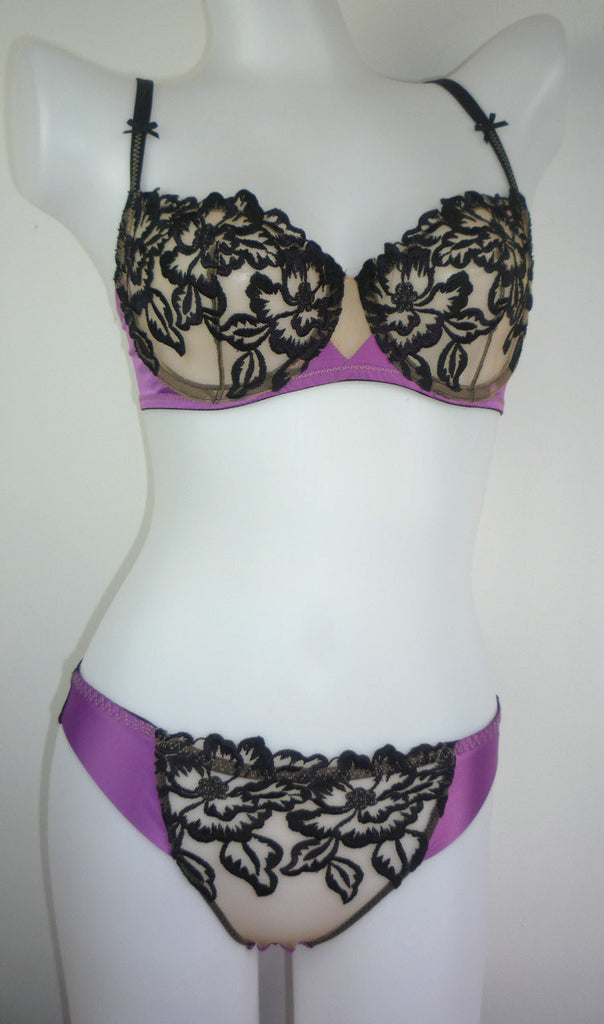 bra and panties set purple
