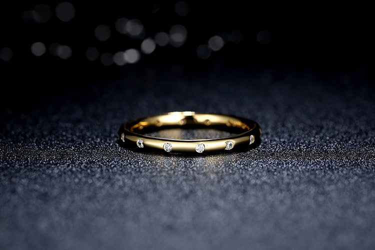 Sterling gold ring for ladies