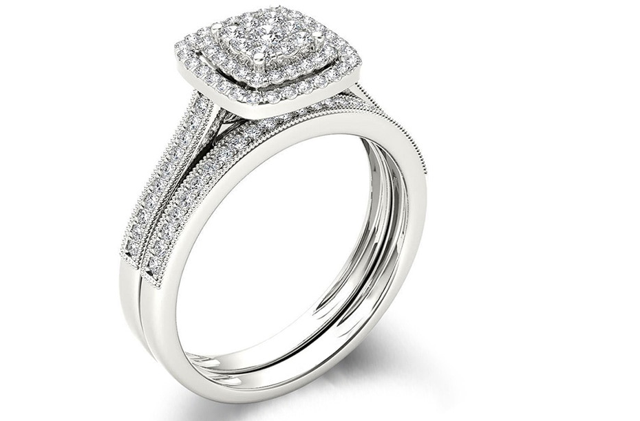 Micro Lab Diamond Platinum ring