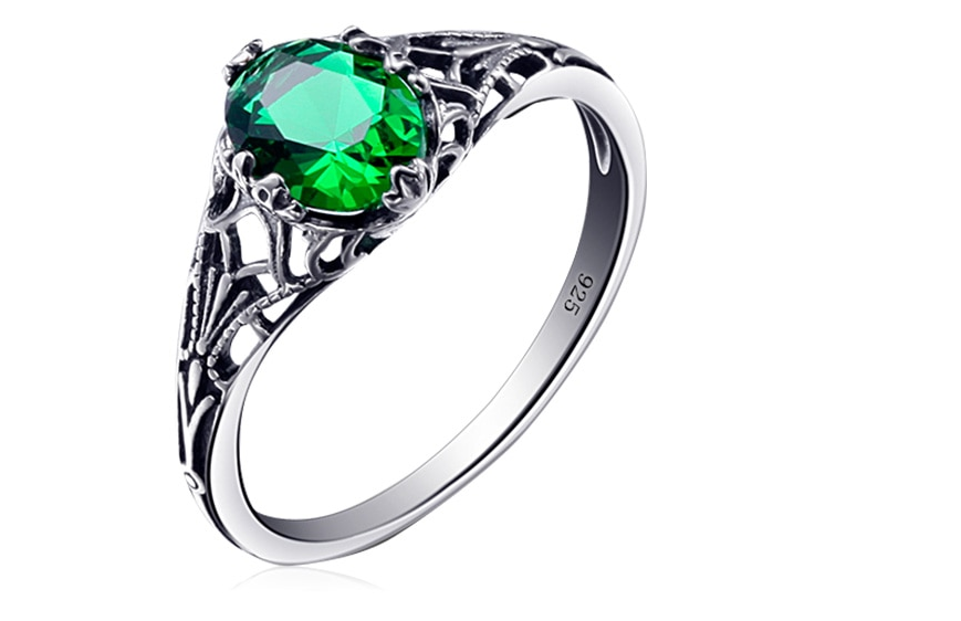 Bulgarian Emerald 925 sterling silver Ring