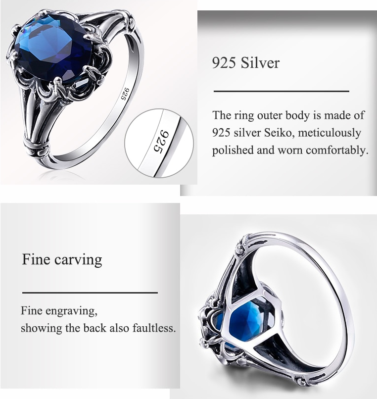 Real Solid 925 Sterling Silver Ring for ladies details