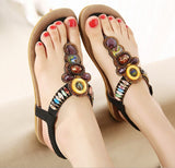 Summer Flat Sandals /Bohemia Beach Flip Flops /Gladiator
